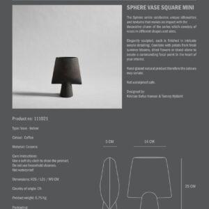 Sphere Vase Square Mini Coffee Info