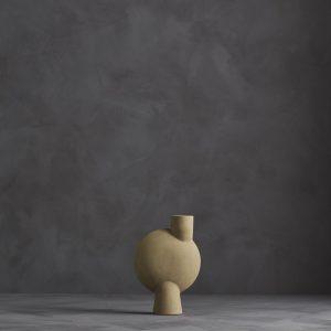 Sphere Vase Bubl Medio Sand