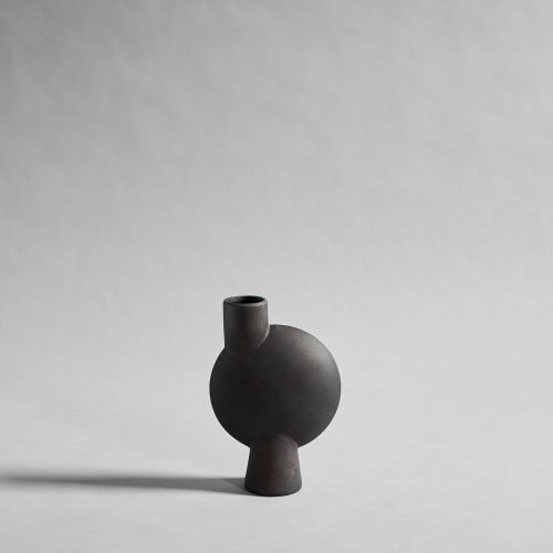 Sphere Vase Bubl Medio Coffee