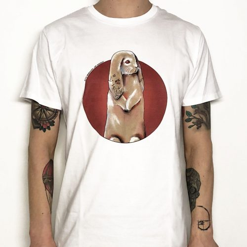 TEE DITTE GRONNING RABBIT RED