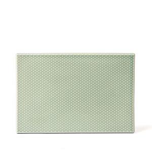 dottir Pipanella Serving Tile Celadon dot